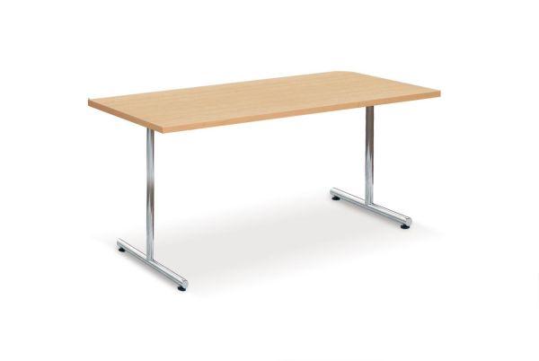 Einsäulenklapptisch ES, Chromgestell mit MELAMINHARZ-Tischp